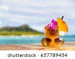 hawaii mai tai cocktail drink... | Shutterstock . vector #657789454