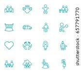 set of 16 relatives outline... | Shutterstock .eps vector #657791770
