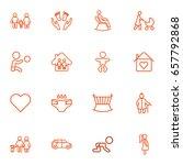set of 16 relatives outline... | Shutterstock .eps vector #657792868