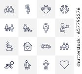 set of 16 people outline icons... | Shutterstock .eps vector #657793276