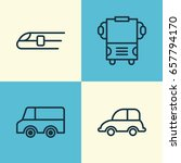 transport icons set. collection ... | Shutterstock .eps vector #657794170