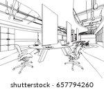 interior outline sketch drawing ... | Shutterstock .eps vector #657794260