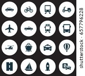 shipment icons set. collection... | Shutterstock .eps vector #657796228