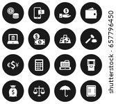 set of 16 finance icons set... | Shutterstock .eps vector #657796450