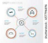 transportation icons set.... | Shutterstock .eps vector #657796696