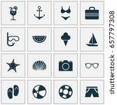 sun icons set. collection of... | Shutterstock .eps vector #657797308