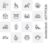 set of 16 relatives outline... | Shutterstock .eps vector #657797626