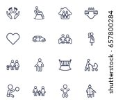 set of 16 relatives outline... | Shutterstock .eps vector #657800284