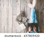 hipster lifestyle and creative... | Shutterstock . vector #657805420