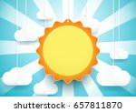 cute sun and clouds background. ... | Shutterstock .eps vector #657811870