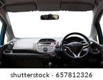 car inside  interior of modern... | Shutterstock . vector #657812326