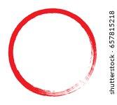red paint brush stroke circle... | Shutterstock .eps vector #657815218