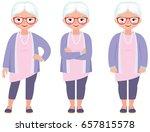 gray haired senior woman in...   Shutterstock .eps vector #657815578