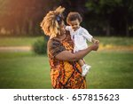 african american mother with... | Shutterstock . vector #657815623