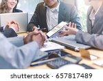 business people meeting good... | Shutterstock . vector #657817489