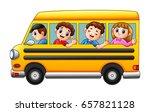 cartoon kids going to school by ... | Shutterstock . vector #657821128