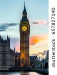 Big Ben  London  Uk. A View Of...