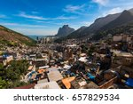 view of rocinha  the largest... | Shutterstock . vector #657829534