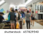 abstract blur people choose... | Shutterstock . vector #657829540