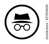 incognito icon | Shutterstock .eps vector #657834004