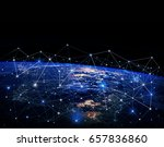 global network internet concept.... | Shutterstock . vector #657836860