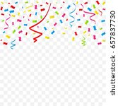 colorful tiny confetti and... | Shutterstock .eps vector #657837730