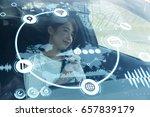 futuristic vehicle and...