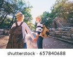 travel and tourism. senior... | Shutterstock . vector #657840688
