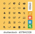 strategy icon set clean vector | Shutterstock .eps vector #657841528