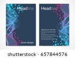 scientific brochure design... | Shutterstock .eps vector #657844576
