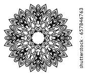 hand drawn henna ethnic mandala.... | Shutterstock .eps vector #657846763