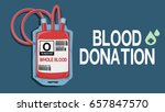 blood donation wording with... | Shutterstock .eps vector #657847570