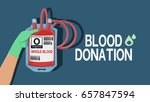 blood donation wording with... | Shutterstock .eps vector #657847594