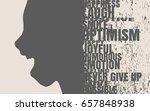 face side view. elegant... | Shutterstock .eps vector #657848938