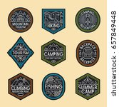 camping logo set color style... | Shutterstock .eps vector #657849448