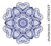 ethnic mandala. mehndi style... | Shutterstock .eps vector #657852619