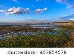 afternoon light city skyline... | Shutterstock . vector #657854578