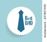 happy fathers day card design... | Shutterstock .eps vector #657857350