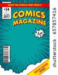 Comic book cover. Vector illustration