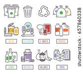 different recycling garbage... | Shutterstock .eps vector #657860338