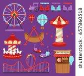 carousels amusement attraction... | Shutterstock .eps vector #657860518