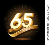 65 years golden anniversary... | Shutterstock .eps vector #657867124