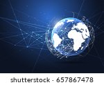 global network connection.... | Shutterstock .eps vector #657867478