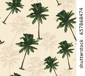 palm tree pattern seamless in... | Shutterstock .eps vector #657868474