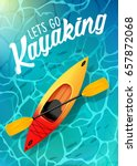 lets go kayaking summer poster...