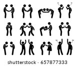 people meeting and greeting... | Shutterstock . vector #657877333