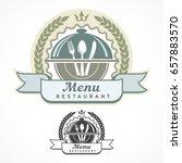 design menu labels with fork ... | Shutterstock .eps vector #657883570