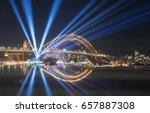 close up harbour bridge sydney... | Shutterstock . vector #657887308