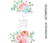 delicate wedding floral vector...   Shutterstock .eps vector #657889453