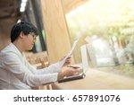 young asian business man... | Shutterstock . vector #657891076